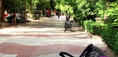 Plaza América, junto al Paseo de Cánovas