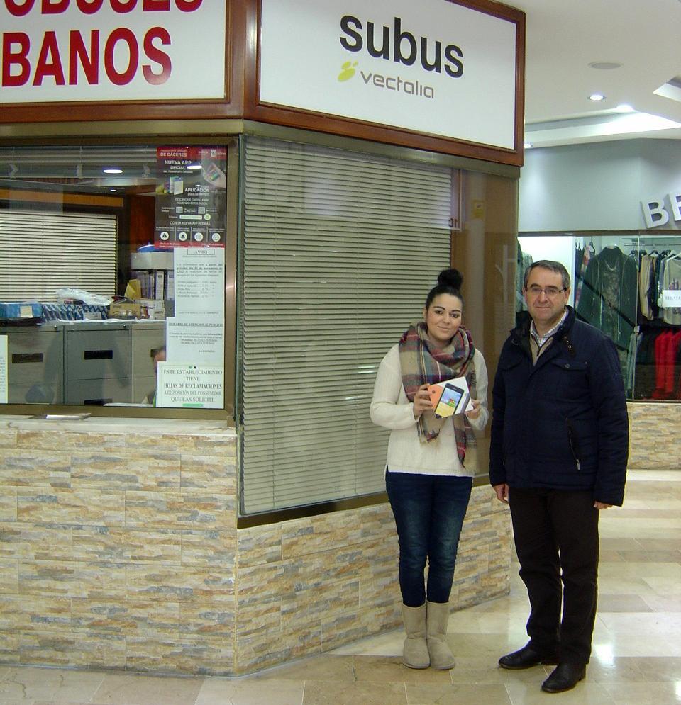 Ganadora sorteo Facebook Subús Cáceres