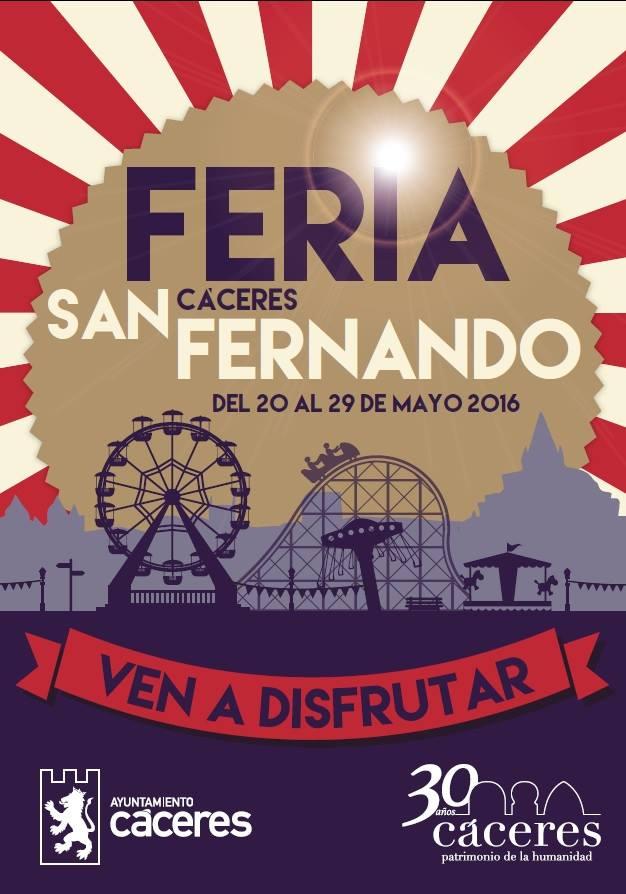 Cartel de la Feria de San Fernando de Cáceres 2016