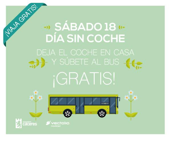 18 de septiembre #DíaSinCoches súbete al bus gratis